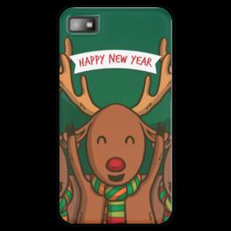 """Чехол для Blackberry Z10 """"Новый год! 2016!"""" - праздник, новый год, веселье, рождество, гесс"""