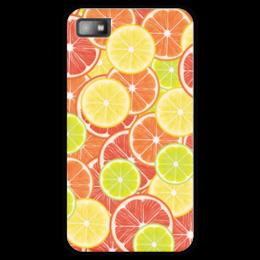 """Чехол для Blackberry Z10 """"Цитрусы"""" - апельсин, лайм, лимон, грейпфрут, дольки"""