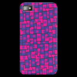 """Чехол для Blackberry Z10 """"Прямоугольники"""" - черный, красный, синий, край, прямоугольник"""