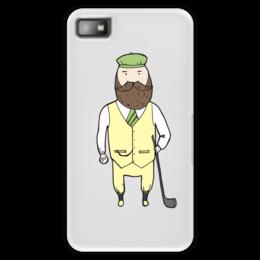 """Чехол для Blackberry Z10 """"Джентльмен с клюшкой для гольфа"""" - мяч, борода, джентльмен, гольф, клюшка"""