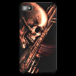 "Чехол для Blackberry Z10 ""ДО КОНЦА!!!"" - skull, череп, weapon, автомат, ак"
