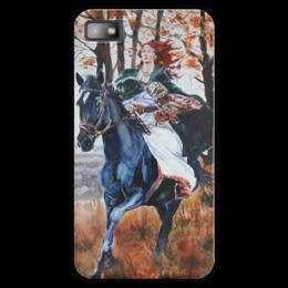 "Чехол для Blackberry Z10 ""Охота на осень"" - девушка, лошадь, осень, фолк, охота"