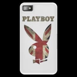 """Чехол для Blackberry Z10 """"Playboy Британский флаг"""" - playboy, плейбой, зайчик, великобритания, плэйбой"""