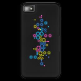 """Чехол для Blackberry Z10 """"Психоделика 2"""" - пузырьки, цвет, абстракция, чёрный фон"""