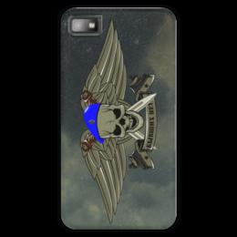 """Чехол для Blackberry Z10 """"ВДВ !!!"""" - армия, нож, вдв, десант, голубой берет"""