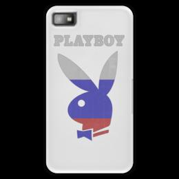 "Чехол для Blackberry Z10 ""Playboy Россия"" - playboy, россия, плейбой, зайчик, плэйбой"