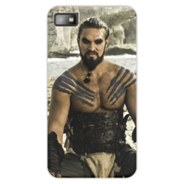 "Чехол для Blackberry Z10 ""Игра престолов."" - got, игра престолов, game of thrones, джейсон момоа, khal drogo, дрого, кхал"