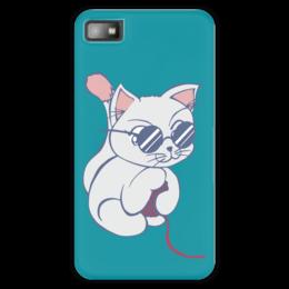 """Чехол для Blackberry Z10 """"Котенок с клубком"""" - кот, кошка, котенок, очки, клубок"""