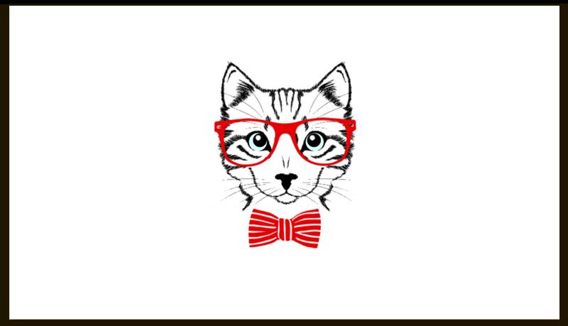 Визитная карточка Printio Кошка отсутствует автомир 35 2017
