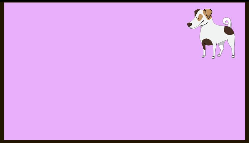 Визитная карточка Printio Джек рассел.собака отсутствует chronicon preciosum