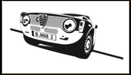 """Визитная карточка """"Retro Alfa Romeo Racing"""" - ретро, авто, машина, гонки, alfa romeo"""