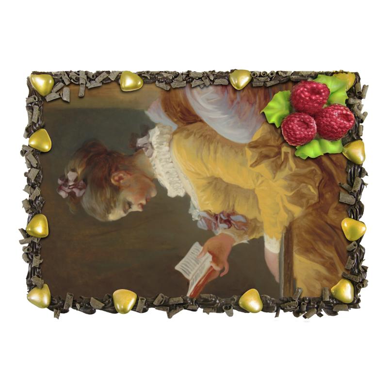 Торт Printio Молодая девушка за чтением (фрагонар) торт printio девушка пытающаяся защититься от стрелы эроса