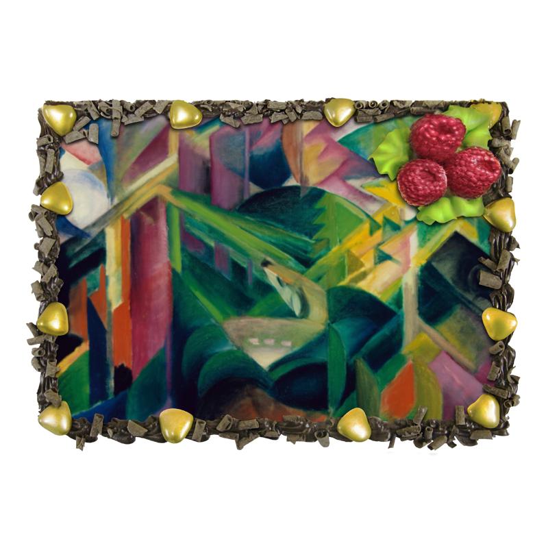 Торт Printio Олень в монастырском саду (франц марк)