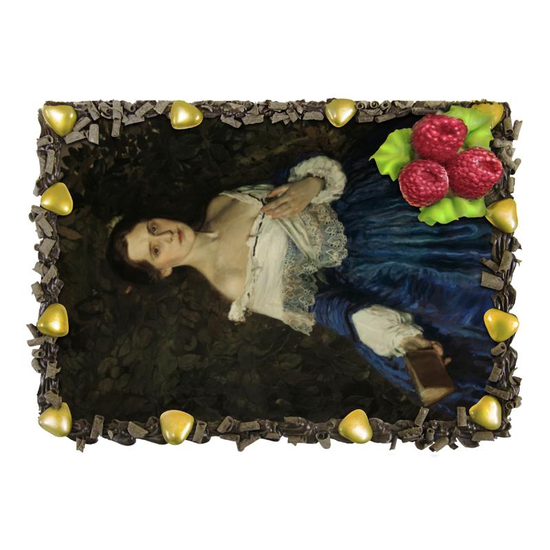 Торт Printio Дама в голубом (картина сомова)