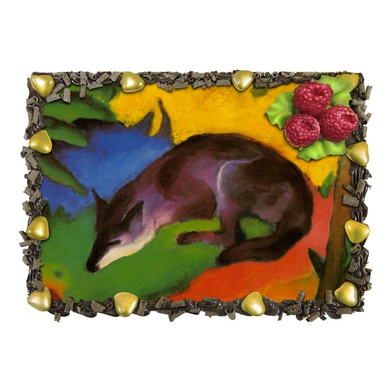 Торт Printio Сине-черная лиса (франц марк) марк дигнэм
