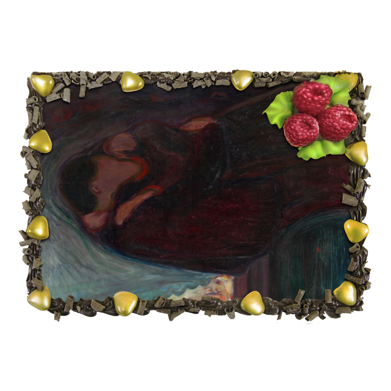 Торт Printio Поцелуй (картина мунка 1897 года) отсутствует автомир 35 2017