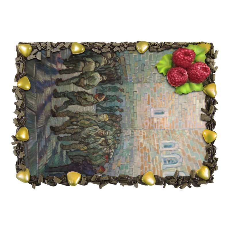 торт printio цветущий сад винсент ван гог Торт Printio Прогулка заключённых (винсент ван гог)