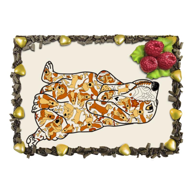 Торт Printio Смешная собака бассет купить щенкак в донецке бассет