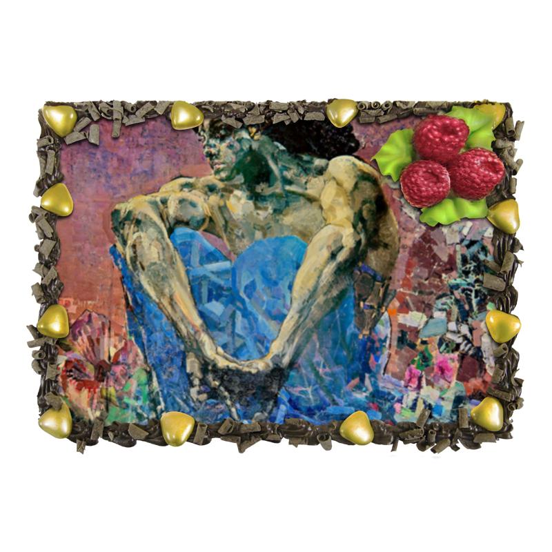 Торт Printio Демон сидящий (михаил врубель) обложка для паспорта printio демон сидящий