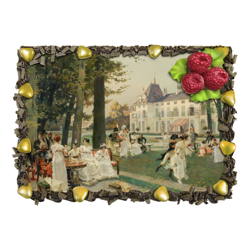 Торт Printio Прием в мальмезоне в 1802 году (франсуа фламенг) magnit rmv 1802