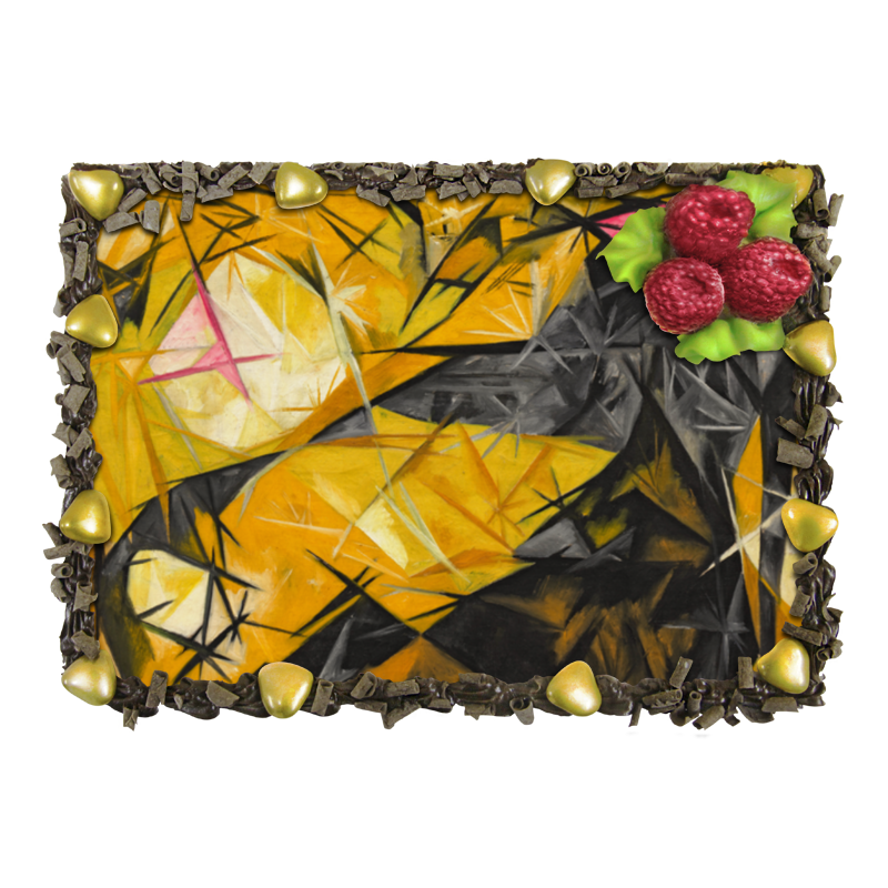 Торт Printio Кошки (розовое, черное и желтое) торт printio кошки розовое черное и желтое