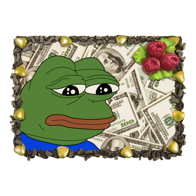 Торт Printio Sad frog отсутствует автомир 35 2017