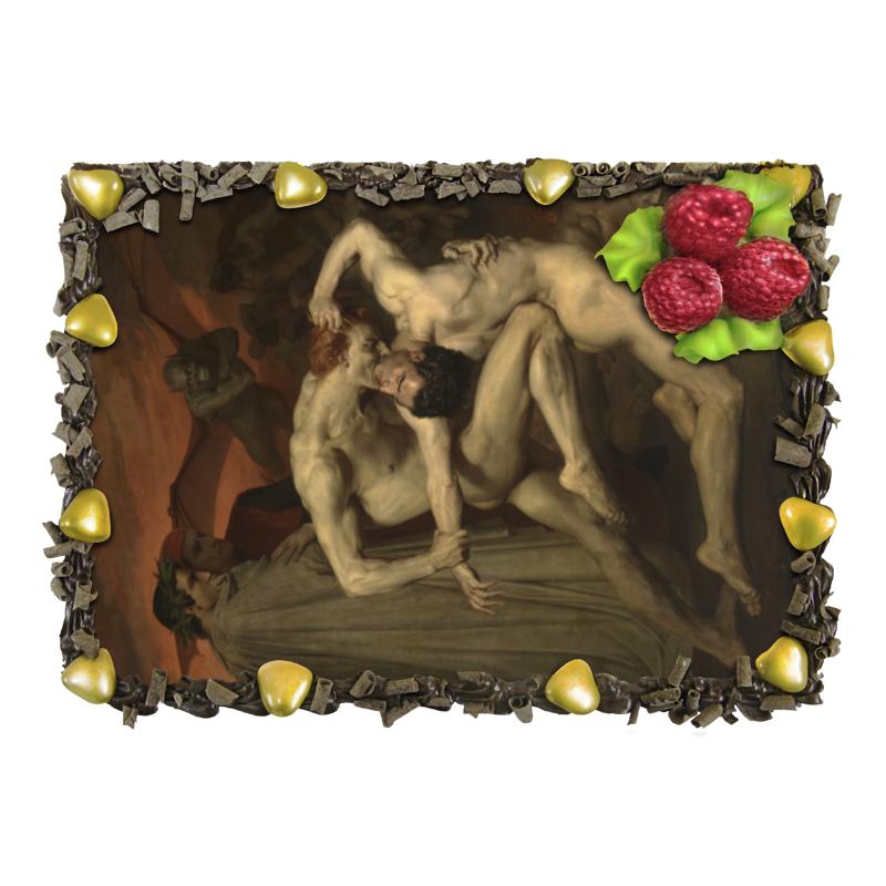 Торт Printio Данте и вергилий в аду (вильям бугро) in winear007 450w black silver