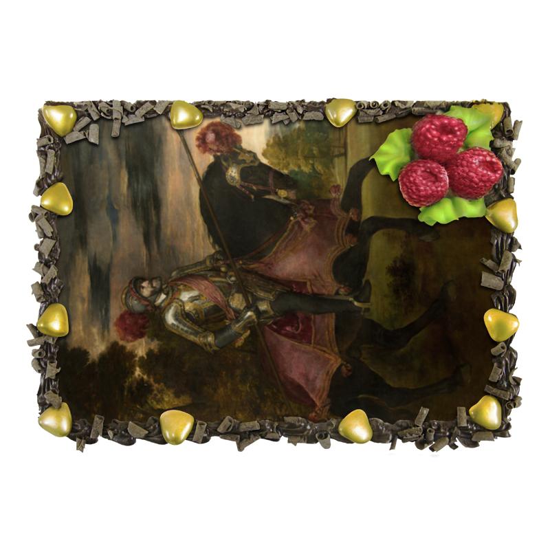 Торт Printio Конный портрет карла v (тициан) волшебница золотой орех шоколад темный с миндалем 190 г