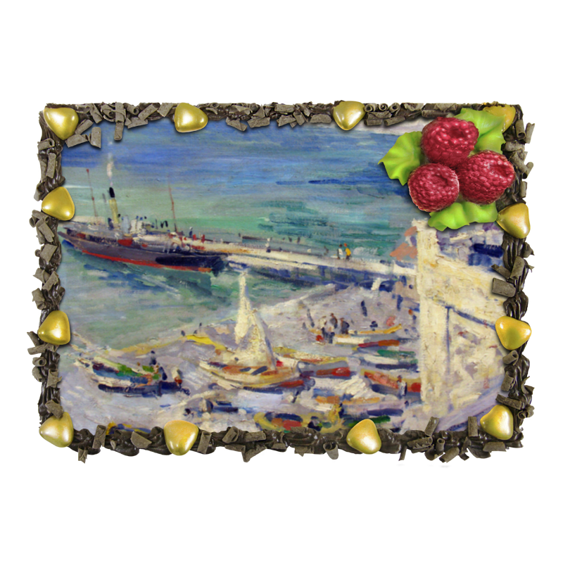 Торт Printio Набережная в крыму (константин коровин) коровин в океан бога