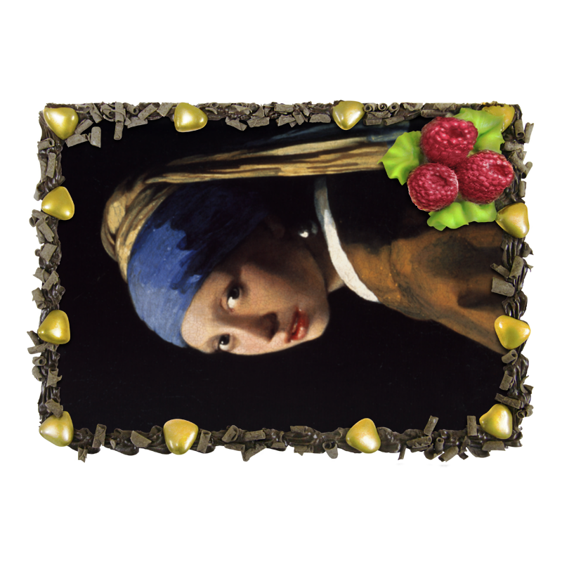 Торт Printio Девушка с жемчужной серёжкой (ян вермеер) торт printio девушка пытающаяся защититься от стрелы эроса