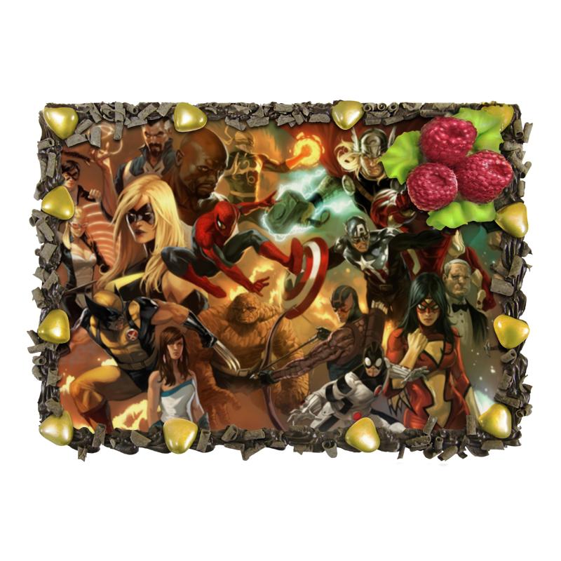 Торт Printio Comics лакомства для здоровья шоколад горький с кунжутом 100г