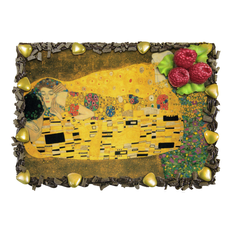 Торт Printio Поцелуй (картина климта) гобелен 180х145 printio поцелуй картина климта