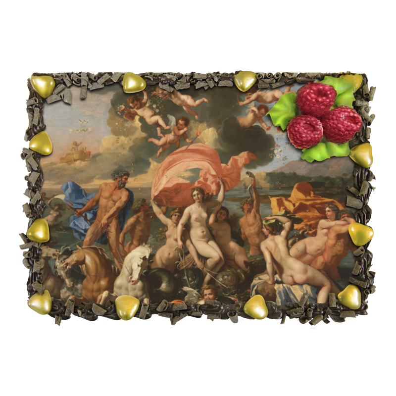 Торт Printio Рождение венеры (никола пуссен) никола квас никола традиционный 2л