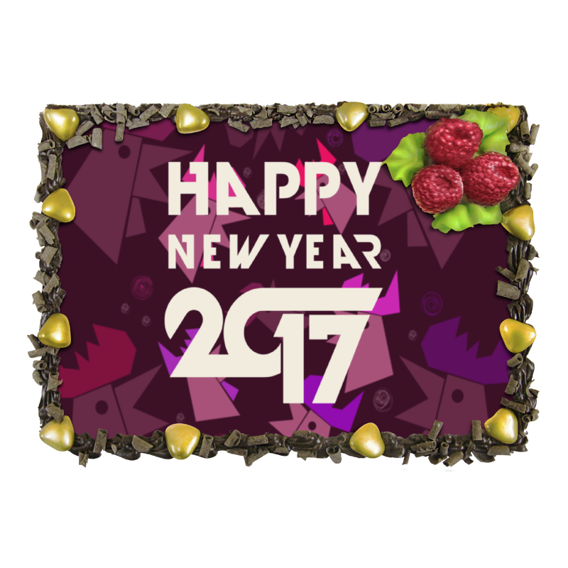 Торт Printio Happy new year фартук с полной запечаткой printio happy new year 2017