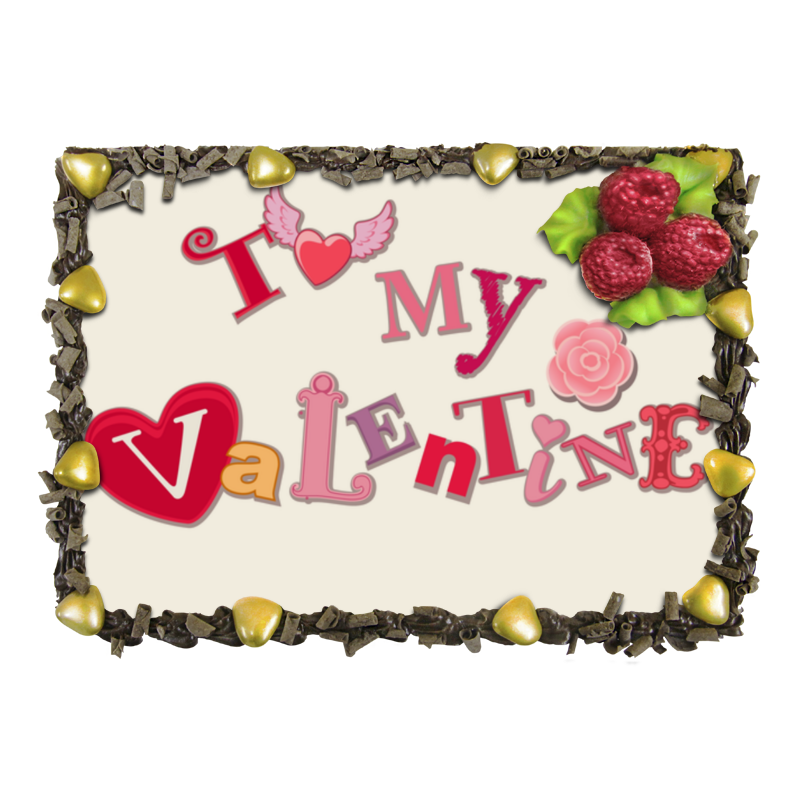 Торт Printio моему валентину (to my valentine) шоколадка 35х35 printio to my valentine
