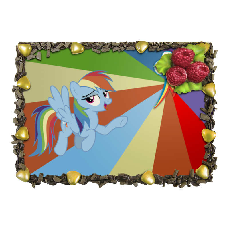 Торт Printio Rainbow dash color line отсутствует автомир 35 2017