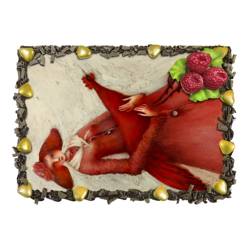 Торт Printio Красный петух торт printio девушка пытающаяся защититься от стрелы эроса