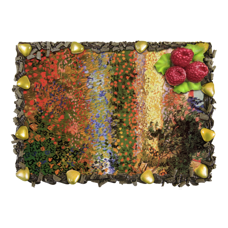 Торт Printio Цветущий сад (винсент ван гог) ля рош позэ толеран тон 13 флюид