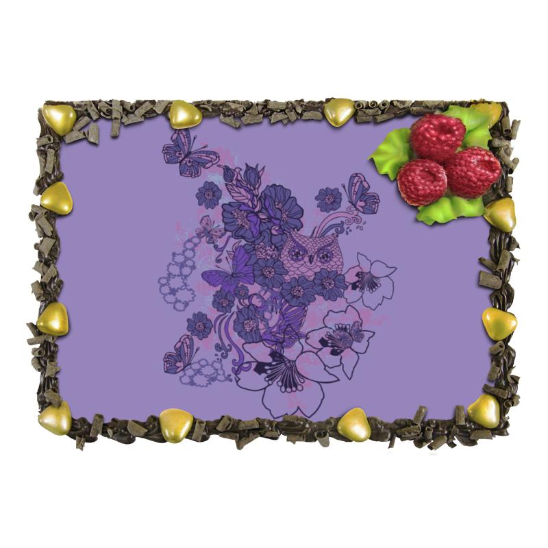 Торт Printio Сова в цветах торт printio набережная в крыму константин коровин