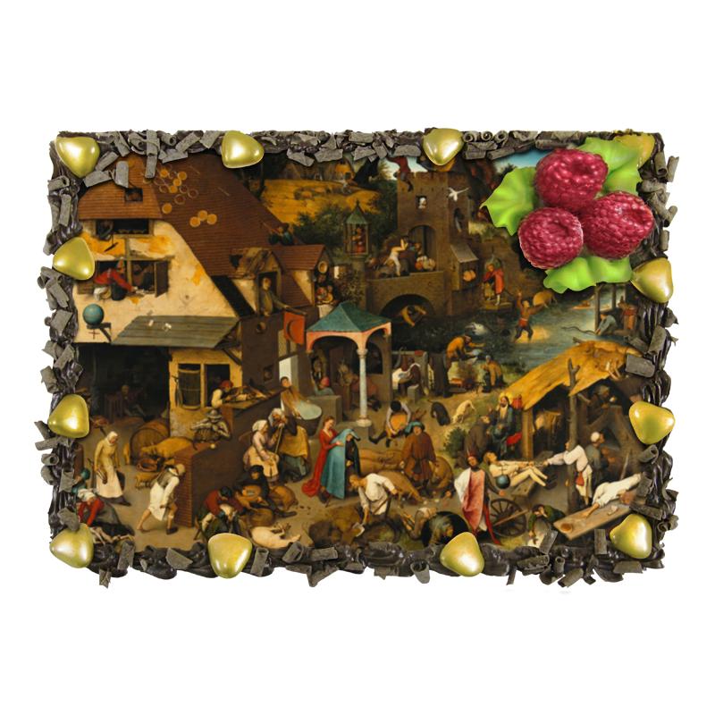 Торт Printio Фламандские пословицы (питер брейгель) торт printio триумф смерти питер брейгель старший