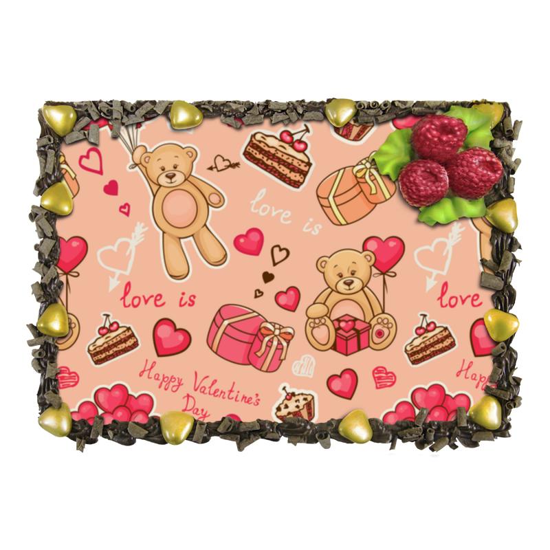 Торт Printio Happy valentine's day semper пюре semper сэмпер картофельное с семгой 190 г