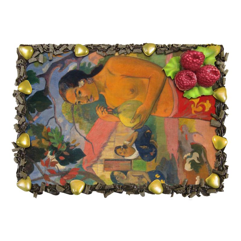 Торт Printio Женщина, держащая плод (поль гоген) футболка с полной запечаткой printio зов поль гоген