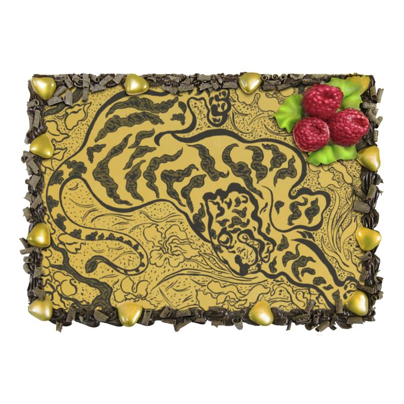 Торт Printio Тигр в джунглях (поль-элье рансон)