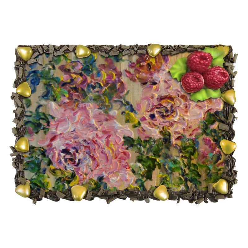 Торт Printio Розовый куст кaт влaгоустойчивый вечнозеленый куст купить