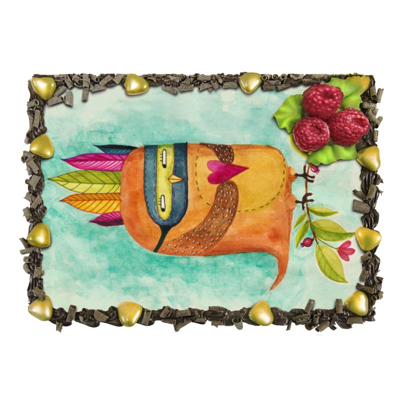 Торт Printio Рыжая сова индеец хлебная смесь бородинский хлеб