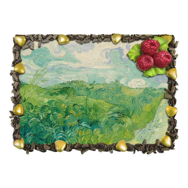 Торт Printio Зеленые поля пшеницы (винсент ван гог) отсутствует автомир 35 2017