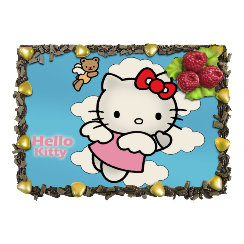 Торт Printio hello kitty! набор для плавания hello kitty hey32623 очки шапочка