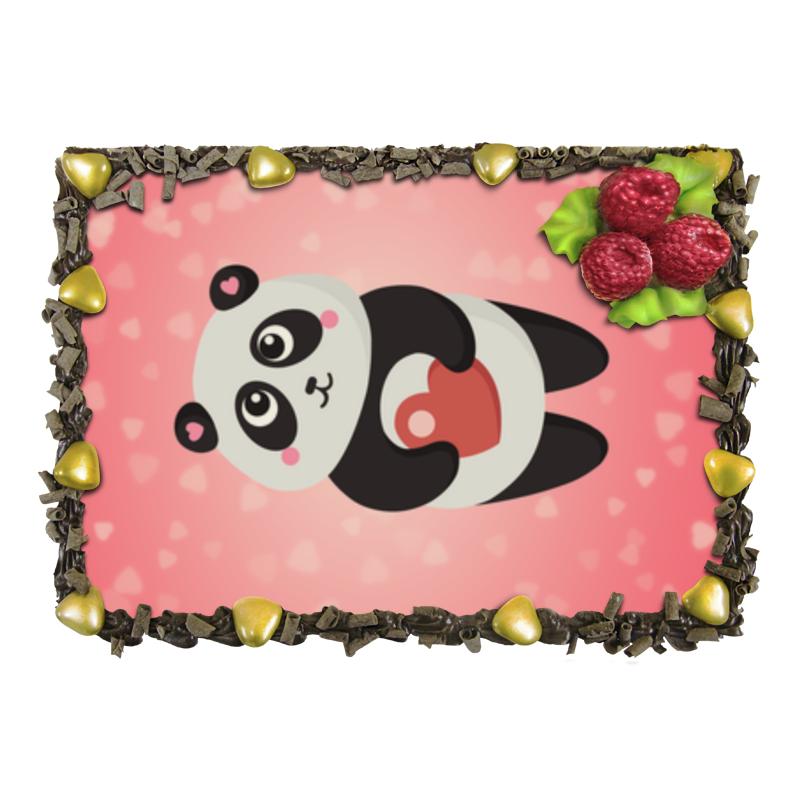 Торт Printio Панда с сердечком позиционеры для сна candide позиционер с подголовником воздухопроницаемая панда air