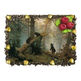 """Торт """"Утро в сосновом лесу (Иван Шишкин)"""" - картина, шишкин, савицкий"""
