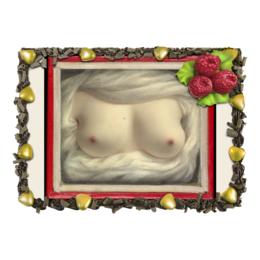 """Торт """"Выявленная красота (картина Сары Гудрич)"""" - сиськи, картина, гудрич"""